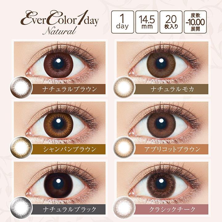 エバーカラーワンデーナチュラル瞳の装着画像